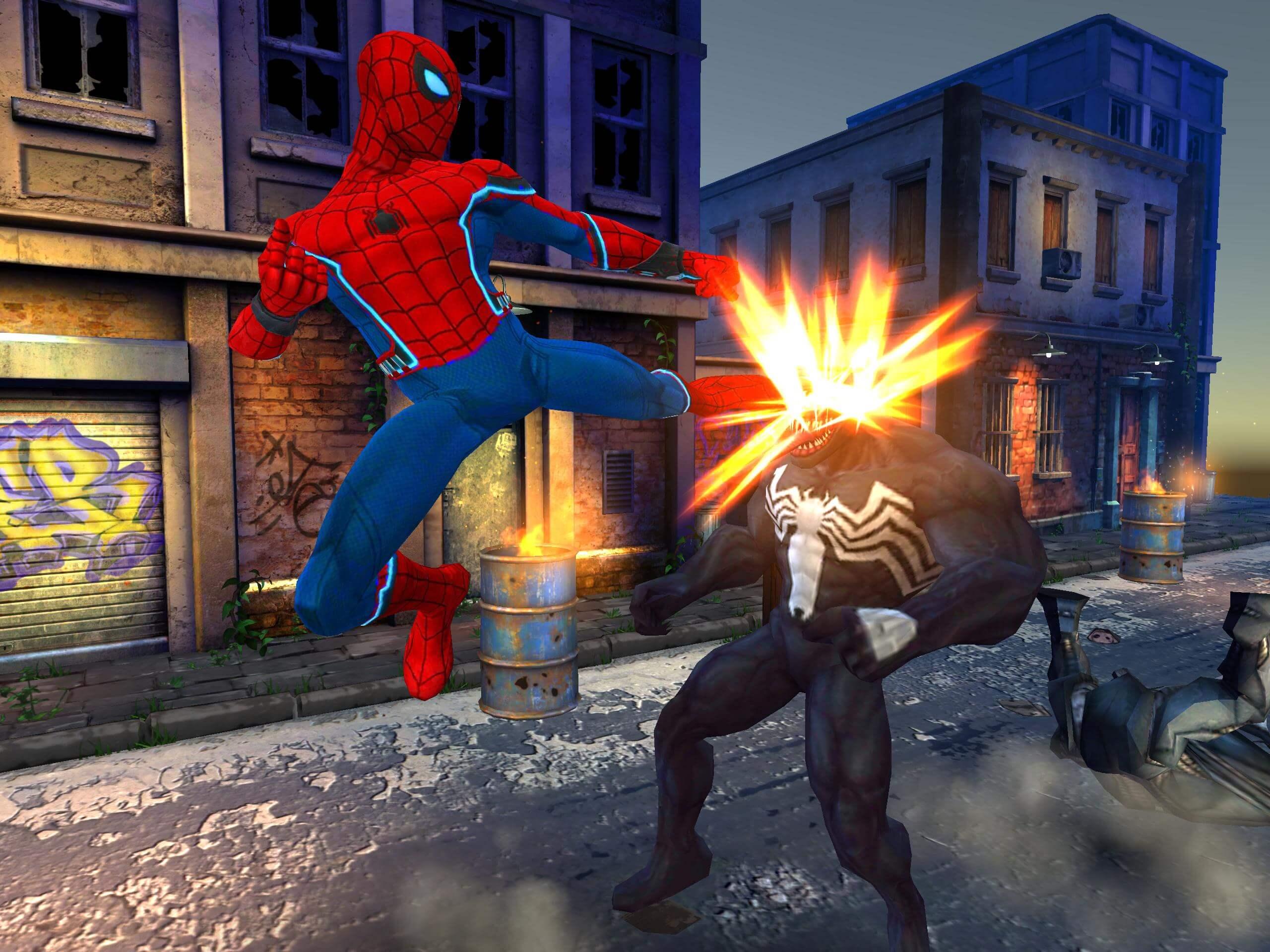 Spider Hero Street Fight
